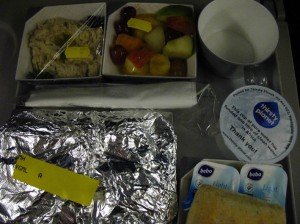 Day1 airplane food