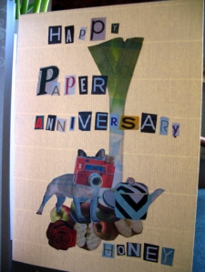 paper anniversary card